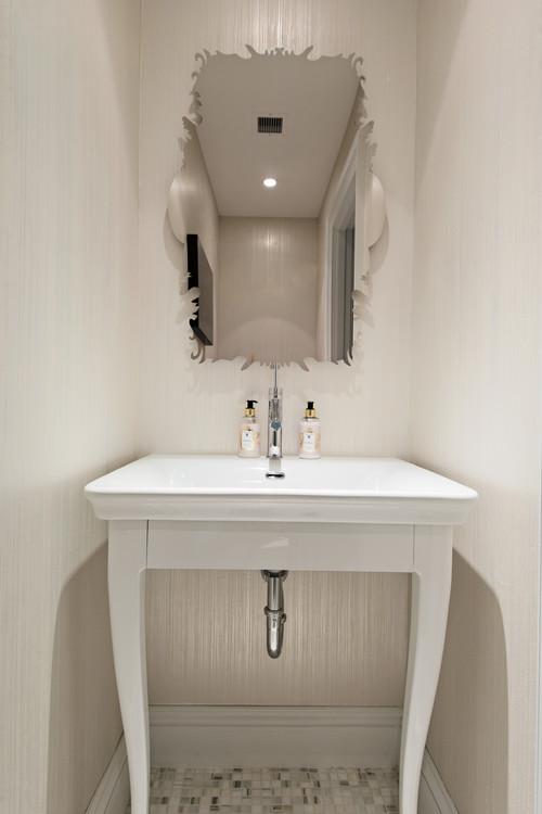 contemporary powder room Interior designer Singapore