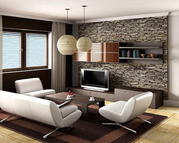 stone wall interior designer Singapore